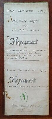 1907 Indenture Cooper to Mellor for Land in High Lane, Burslem, Staffordshire