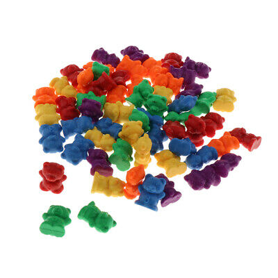 School Plastic Bear Counters, 6 Colors, 60 Pieces