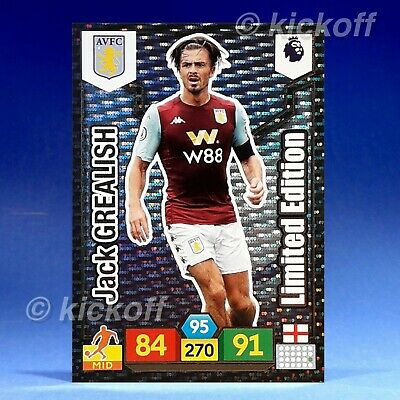 Panini Adrenalyn XL 2019-2020: Jack Grealish - Limited Edition. Aston Villa. New