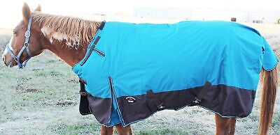 "78/"" 1000D Turnout Waterproof Horse SHEET Light Winter Blanket Zebra 220G"