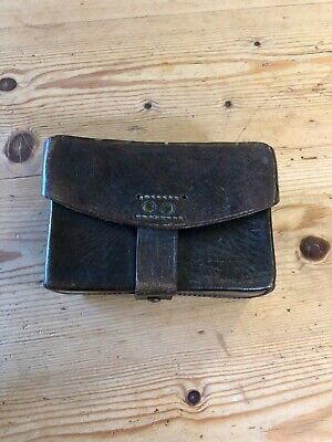 WW2 Leather Belt box / pouch / possibles pouch for bushcraft