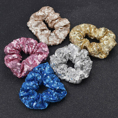 Elastic Hair Band Rope Sequin Women Scrunchie Ponytail Holder Accessory