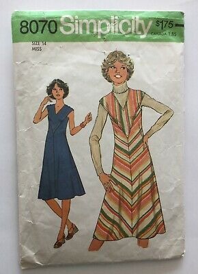 Vintage Simplicity 8070 - 70s Pinafore Dress Sewing Pattern 14