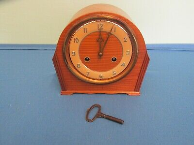 Vintage Art Deco Perivale Andrews Westminster Chime Mantel Clock
