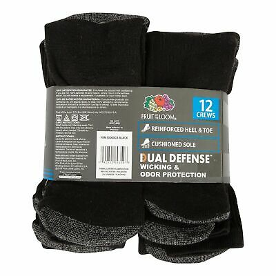 12 Pairs Mens Industrial Crew Boot Work Socks Thick Heavy Duty 6-11