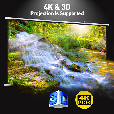 "Exquizon 120"" 16:9 Portable Projector Screen For 4K HD Movies Wall-mounted 1080P"