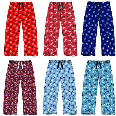 Kids Official Football Lounge Pants Pyjama Bottoms Boys/Girls Pyjamas Age 5-14