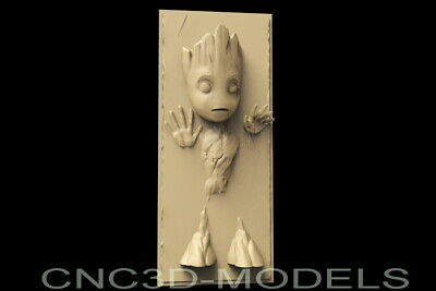 3D STL Model for CNC Router Carving Engraver Artcam Aspire Usa Baby Groot.D181