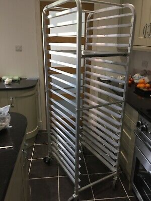 Commercial Catering 20 Tier Gastronorm Racking Trolley