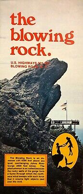 Vintage 1970's Brochure the blowing rock NC  Attraction US HIghways 221-321