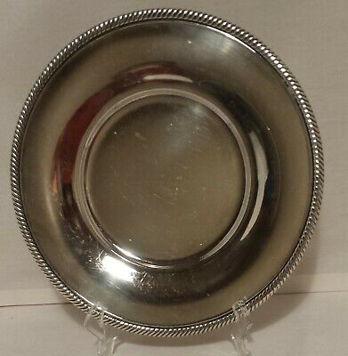 "INTERNATIONAL SILVER SILVERPLATE 10"" SERVING TRAY or PLATE CASTLETON #673"