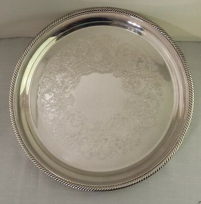 "International Silver Silverplate 12"" Serving Tray Castleton #671"