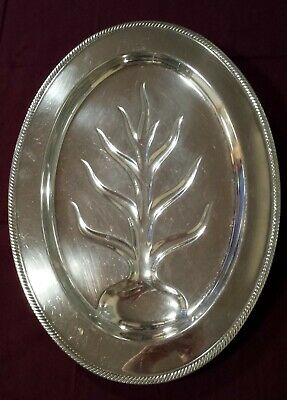 "International Silver Silverplate Meat Serving 16"" Tray  Castleton  #690"