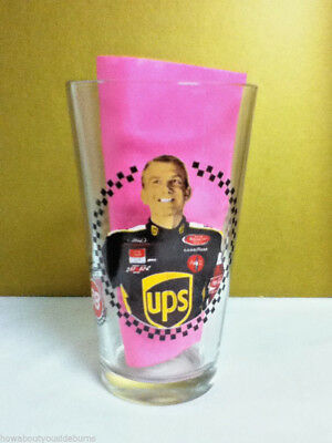 Dale Jarretts #88 UPS sponsor beer cocktail drink pint glasses 1 glassware NP4