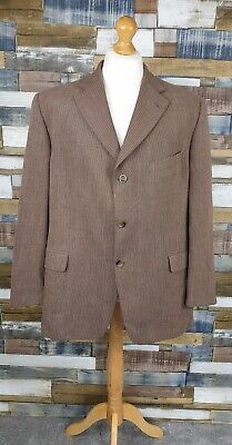 Douglas Brown Wool Blend Single Breasted Mens Blazer Jacket Size Chest 48 R