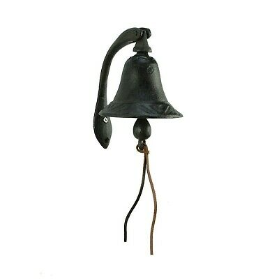 CTW Home Collection Cast Iron Logan Dinner Bell With Bracket Dinner Bell