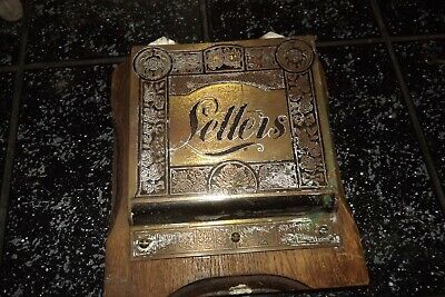 antique wood and brass metal letter rack steampunk writing desk