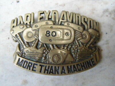 Harley-Davidson Collector Boucle Ceinturon Usa Belt Buckle Vintage 1983
