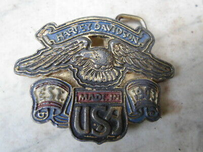 HARLEY-DAVIDSON COLLECTOR BOUCLE CEINTURON USA BELT BUCKLE VINTAGE 1976 + numero