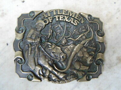 Boucle Ceinturon Usa Belt Buckle Bronze Vintage Cow-Boys Bikers Texas / Adm