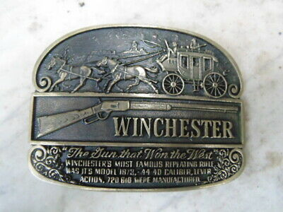 Boucle Ceinturon Usa Belt Buckle Bronze Vintage Winchester Cow-Boys Bikers Adm