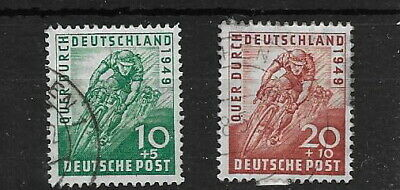 Germany - Allied Occ. 1949. Cycling. Used. (2)