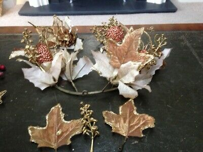 Selection of  Gold Christmas Decorations for arrangements