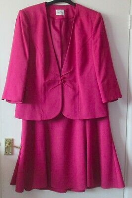 A Pink Jacket & Skirt Suit, Size 18, By Eastex, Lined, Never Worn.