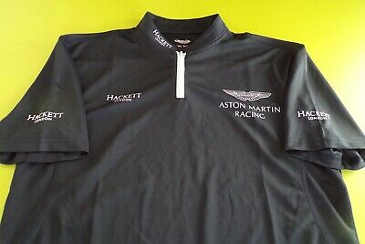 Aston Martin Racing Team Issue Polo Shirt Mens Medium - Last One In Stock
