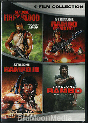 Rambo DVD 4 Movie Collection First Blood 1 2 3 4 Sylvester Stallone Brand NEW