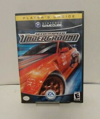 Need for Speed: Underground (Nintendo GameCube, 2003) COMPLETE EA GAMES TESTED