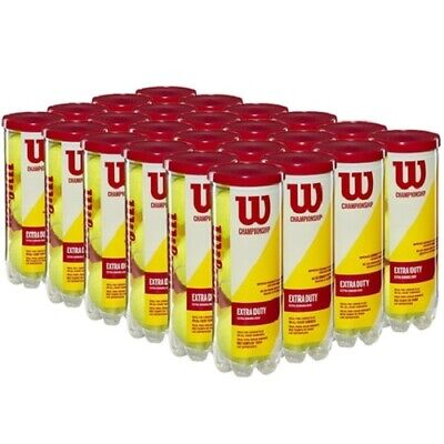 NEW Wilson WRT1001 CASE of Championship Extra Duty Tennis Balls 24 Cans