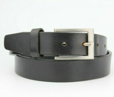 Back Very Thick 100% Real Leather Belt Size S