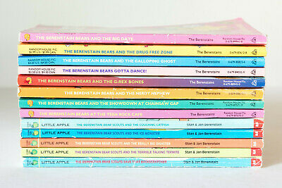 Lot of 13 BERENSTAIN BEARS & SCOUTS Series Set of Big Chapter Books - Ages 7-10