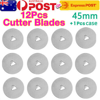 12X 45mm Rotary Cutter Blades Tungsten Steel Scale Sewing Quilting Cutting Tools