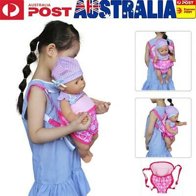 Girl Handmade Baby Carrier Accessories Gift Kids Doll Backpack Education Toy AU
