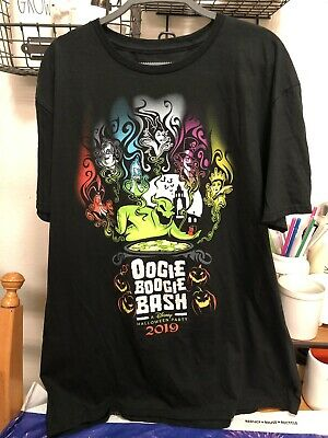 Disney Villains. Oogie Boogie Bash Halloween 2019 Shirt. DCA. Size Large