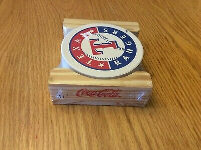 Coca Cola MLB Texas Rangers Ceramic Coaster Set, New In Package