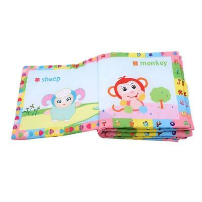 Infant Cloth Book Baby Toys Teether Early Education Kids Book Soft Rattles JA