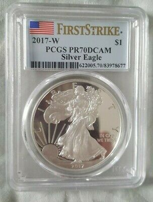 2017-W Pcgs Pf-70Dcam Silver American Eagle Proof First Strike