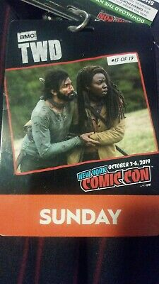 NYCC New York Comic Con 2019 Sunday Pass Badge Ticket 10/6/2019 Fan Verified