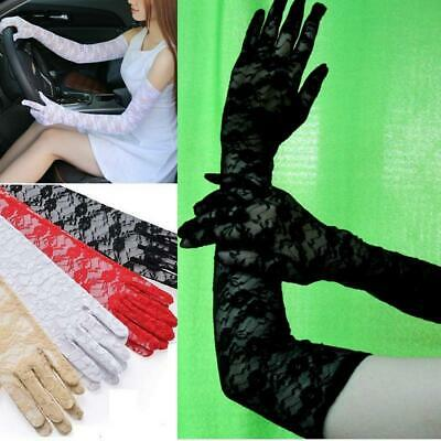 Opera Wedding Bridal Long Stretch Lace Elbow Gloves Proms Party Sexy Ladies New