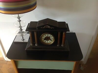 Antique(circa 1890s) German Chime Ebony Mantle Clock