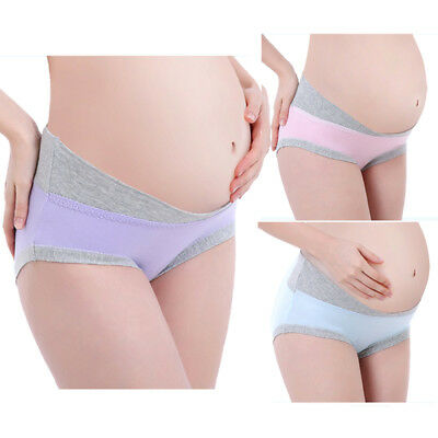 Maternity Knickers Pregnant Cotton Briefs U-shape Underwear Low Waist Panties