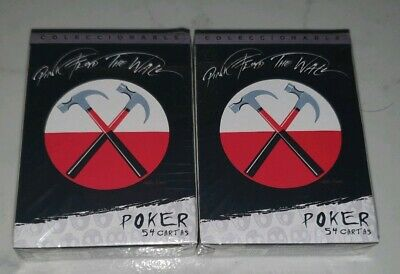 Pink Floyd The Wall Poker 2 Decks Live Nation License