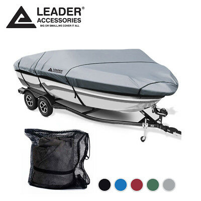 """Boat Cover 16/'-17/'L beam width upto 90/"""" for V-Hull Tri-hull BR and Aluminum Bass"""