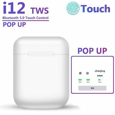 I12 TWS Wireless Bluetooth Earphones Airpods Touch Feature Sweatproof Earbuds