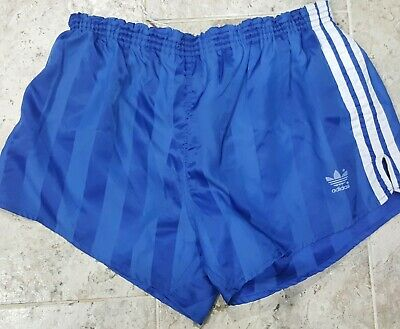 Vintage 1970'S Adidas Trefoil Glanz Striped Shorts Men's Size Xl Very Rare!!!!!!