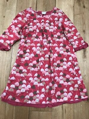 Girls Lovely Vertbaudet Cotton Pink Dress Age 10 Years
