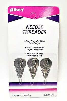 Allary Craft & Sew Style #306 Needle Threader, 3 Pack